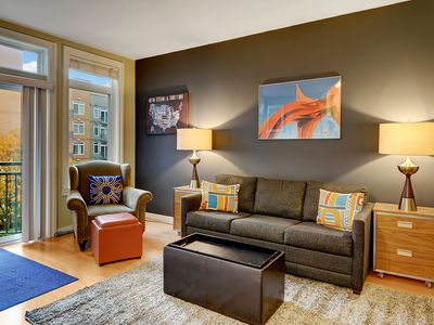 Photo for Downtown Condo, the Belltown Court Garden View Suite, with Secured Parking, POOL, WIFI, A/C, Washer/Dryer