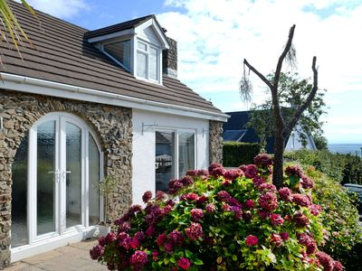 Photo for Luxury Cottage, Sea Views, Wood Burner, 2 Minute Walk to Beach, Parking