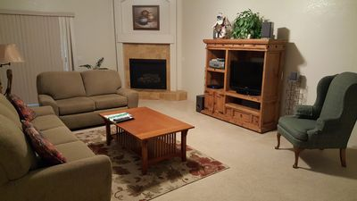 Living Room - Home 1, gas fireplace