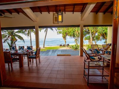 South Point Villa on the beach, Pool, Fully staffed, Sea good for swimming.