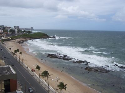 Photo for Apt on BEACH Farol da Barra 3 bedrooms reverted to two Total view Sea