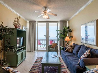 Photo for Beautiful Two Bedroom Gulf Front Condo ~ Great Amenities ~ Steps to the Beach!