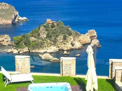 Photo for APARTMENT SPARVIERO TAORMINA With Sea View Jacuzzi
