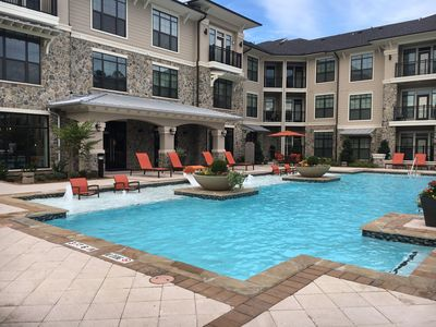 Photo for Gorgeous Pool view 2 bedroom/2 bathroom condo in The Woodlands