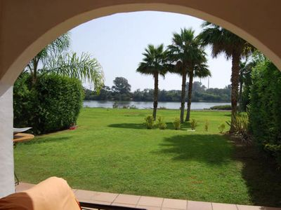 Photo for Luxury apartment, private garden river views
