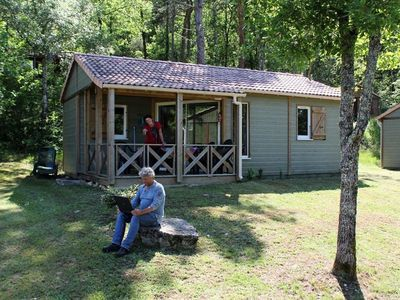 Photo for Camping la Peyrugue *** - 3-room dream chalet for 5 people