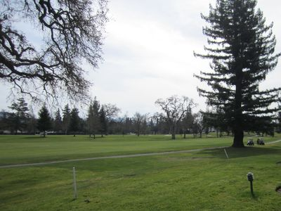 view of the #1 fairway from back patio