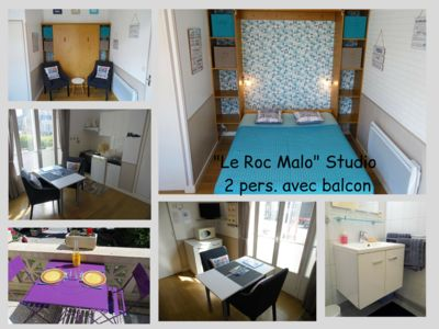 Photo for Studio with balcony 2 pers. 30m from the sea Saint-Malo prox. intramural, Thalasso