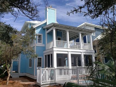 Photo for * Backyard to Beach Boardwalk * Private Pool * South of 30A * Spacious Porches