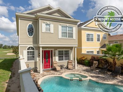 Photo for Liberty View   Luxury Pool Home with Golf Course Views & Games Room - Minutes to Disney!