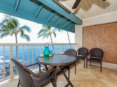 Photo for Oceanfront condo w/ private lanai; very comfortable bed, Complex swimming pool