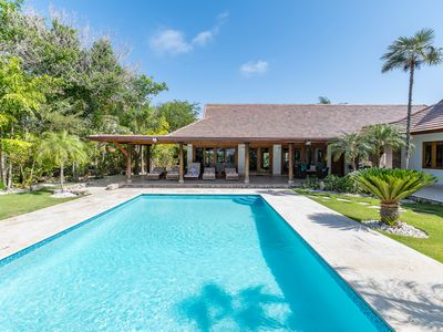 Photo for PHENOMENAL 4BR CAP CANA VILLA WITH POOL, JAZUZZI & MAID