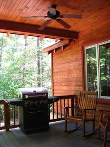 Back Porch with Gas Grill