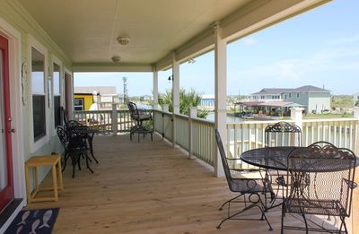 Photo for Nice and breezy location overlooking the canal with access to Copano Bay