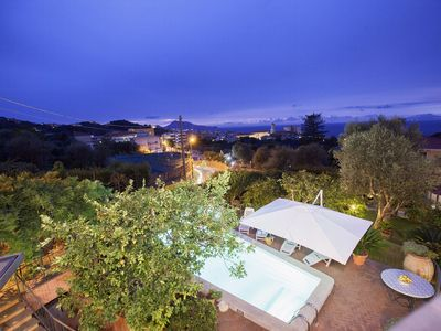 Photo for Beautiful Historic Villa Lucia with Private Pool, Sea View and Garden, Sorrento Coast