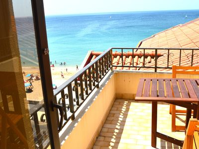 Photo for APARTMENT WITH 1 BEDROOM. TERRACE AND BALCONY SEA VIEW FRONT. 10 METERS FROM THE BEACH