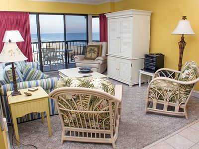 Photo for Great Downtown Location - Oceanfront Condo (Side) - Free Linens, Wi-Fi, Pool