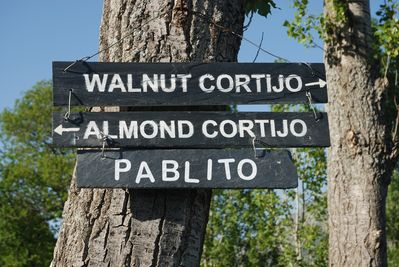 Signs to the 3 cortijos