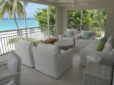 Photo for Stunning 4 Bedroom Ocean Front Condo - Desired Location on 7 Mile Beach