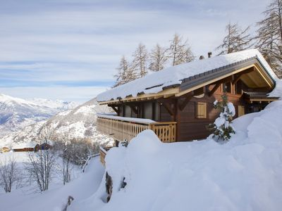 Photo for Chalet La Marmotte, La Tzoumaz, Switzerland