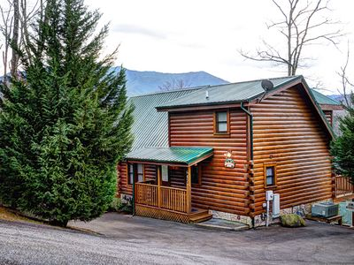 Photo for Bearfoot Lodge is a beautiful log cabin with a Mountain View from every room