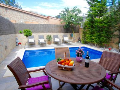 Photo for New! A stunning central holiday flat private swimming pool, terrace and WIFI