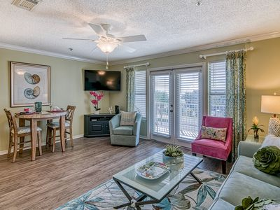 Photo for BEST Gulf Views from this 1 Bedroom in Crystal Beach! Overlooks Pool & Hot Tub!
