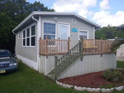 Photo for Come enjoy this cozy corner mobile home-  only miles away from Beaches!