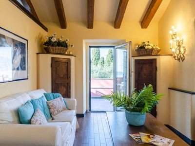 Photo for Villa Diana Junior  apartment in Zoagli with WiFi, air conditioning & private parking.
