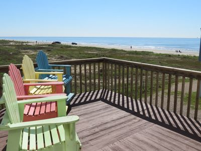Beach view from private deck from second floor master bedroom to enjoy your morning cup of coffee or a glass of wine in the evening.