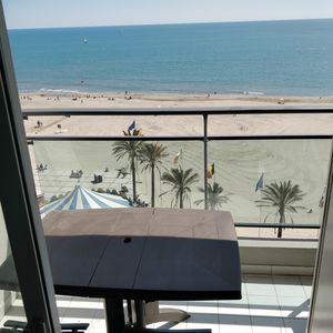 Photo for Canet - first seafront line panoramic view, luxury building