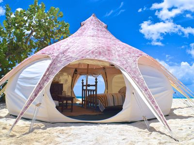 Photo for Amazing Boutique Glamping Yurts - right on the beach!