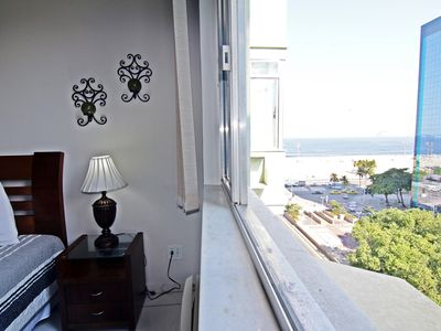 Photo for Comfortable two bedroom apartment with ocean view in Copacabana D027