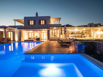 Photo for MYKONOS HEAVEN VILLA RIANA 6 BEDROOMS 6 BATHROOMS, PRIVATE POOL, UP TO 14 GUESTS, THE IDEAL PLACE FOR A PRIVATE AND PAMPERING HOLIDAY