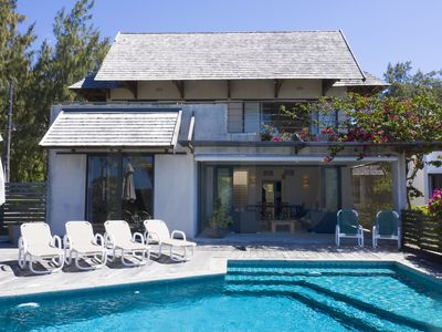 Photo for Peters Beach House with pool, waterfront, Poste Lafayette Mauritius