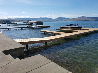 Photo for Remodeled home steps from the water and your brand new dock!
