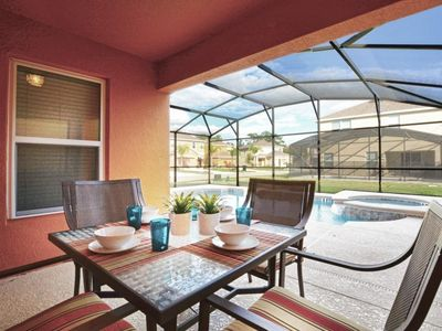 Photo for South Facing Pool - 4  Bdm Villa- 5 min to Disney
