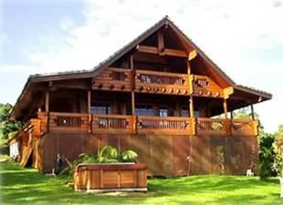 Photo for Scandinavian Chalet, Ocean View, Tropical, Entire Home, King, Jacuzzi, Permited