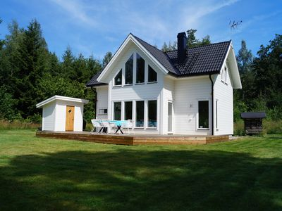 Photo for Vacation at the Lake Skagern. Family friendly house in Tiveden.
