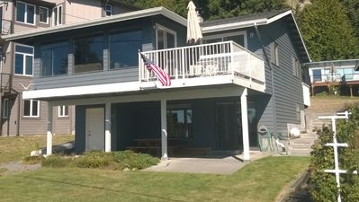 McKees Beach house located on one of the nicest beaches on Port Susan Bay.