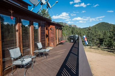 Huge wrap around deck with spectacular views