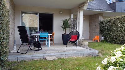 Photo for CARNAC BEACH- APARTMENT. T2 on the ground floor. car park. resid. Private. 150m to the beach