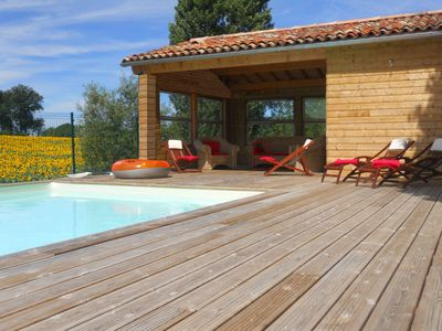 Photo for 'LES SOUCHES' Calm and peaceful surroundings with heated pool.