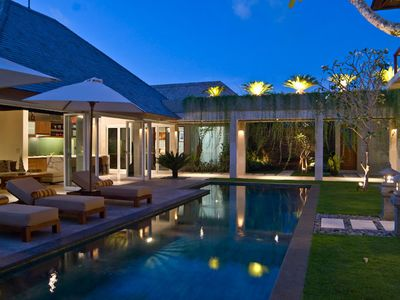Photo for 5 Bedrooms Seminyak Holiday Villa, Shops, Restaurants, Staff Service,Stress Free