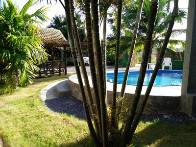 Photo for Cozy and spacious 2½-room bungalow with communal pool