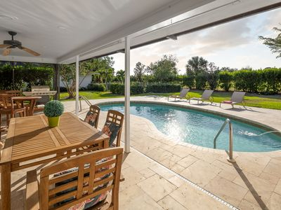 Photo for Naples - Close to Beach Lovely Pool Home on Estate size lot with Westerly