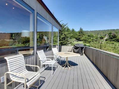 Photo for Dog-friendly with hot tub, shared pool, ocean views & two decks!