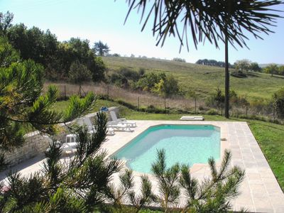 Photo for In the center of Périgord  Noir (SARLAT 20 Km)- LE COUX et BIGAROQUE.  Périgourdine house with  swimming pool, beautiful panorama on valley, on property of 6 ha.