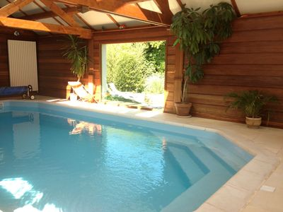 Photo for House with heated indoor pool, sauna, pond, scenery terrain