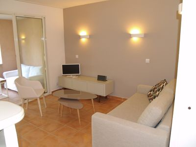 Photo for Apartment 2/3 rooms in private estate with 18 hole golf course